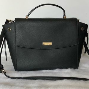 Kate Spade Black Leather Satchel